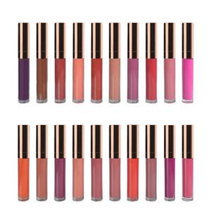 Toptan 20 Renkler Su Geçirmez kadife Dudak Parlatıcısı Hiçbir Logo Kozmetik Makyaj Dudak Parlatıcısı Rujlar Mat Sıvı Dudak Parlatıcısı lipgloss Ruj