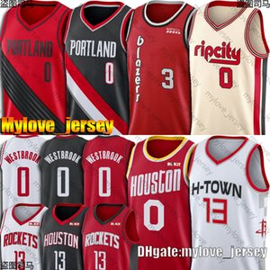 Russell Westbrook 0 jerseys James Harden 13 jerseys Damian Lillard 0 Jersey McCollum, jerseys Portland Houston Rocket Trial Blazer