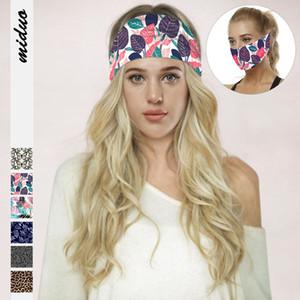 Moda Kadınlar Leopar Baskılı Yoga Bantlar Spor Koruma Çok fonksiyonlu Yüz Ağız Casual Başörtüsü Açık Spor Hairband Maske