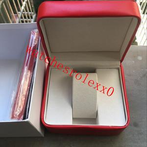 caixa de relógio de transporte de luxo livre caixa OM Praça Vermelha Atacado Para a caixa Relógios Cartão Booklet tags e artigos em Inglês Red 85742