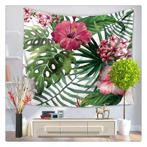 Feuilles vertes 3D Tapisserie Tropical Plante Tenture Ferme Home Décor Tapisseries Tapis Tenture Couvre-lit Nappe