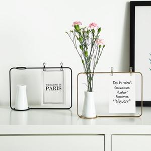 Fer Cadre photo Cadre Eau Culture Vase Fer Céramique hydroponique Fleur Inséré plante verte