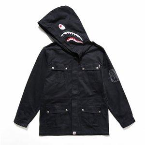 BAPE Mens Jackets 20SS Homens Mulheres Stylist Jacket Hoodie dente de tubarão Outwear Bape alta qualidade Moletons tamanho M-XXL