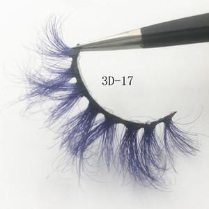 2019 Fantasía 3D de visón pestañas coloridas 100% real Mink Lashes Serie color de las pestañas falsas del maquillaje exagerado de herramientas Festival de Arte pestañas