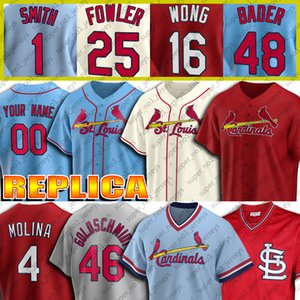 Custom 46 Paul Goldschmidt Jersey 4 Yadier Molina jerseys 1 Ozzie Smith 25 Dexter Fowler 13 Matt Carpenter 22 Jack jersey de béisbol de Flaherty