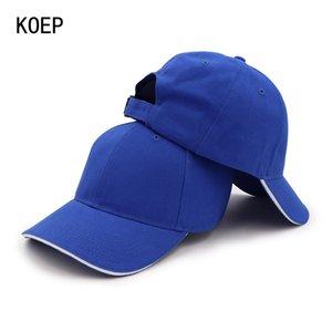 Koep Yüksek Kaliteli% 100 Pamuk Beyzbol şapkası Casquette Ayarlanabilir Katı Kadınlar Caps Erkekler Basit Baba Şapka Takımı Sandwich Siper FOmTx
