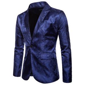 Terno homens Magro Outono Blazer Formal Negócios chegada masculino Suit um botão de lapela Casual manga comprida Pockets Top