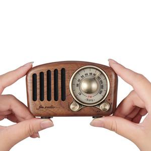 2019 популярный ретро из цельного дерева мини-динамик Bluetooth 4.2 FM радио портативный карманный приемник radyo в возрасте пожилых людей portatil caixa de som bocina
