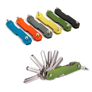 Pratico clip di chiave di slittamento non di metallo in lega di alluminio ad alta resistenza EDC strumento flessibile Pocket Keys Holder superiore LXL798-1
