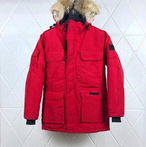 Toptan-Lüks Erkek Kanada Tasarımcı Kış Coat Erkekler Kadınlar Yüksek Kalite Kış Ceket Aşağı Kanada Mens Tasarımcısı Parka Dış Giyim