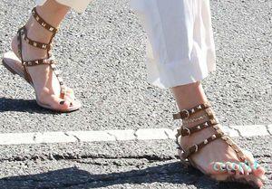 Color Rivets Spiked Gladiator Flat Women Sandals Stones Studded Flip Sandal Big Size Designer Women Cheap Shoes Summer ct4