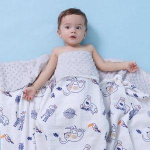 Saf pamuk bebek bezelye battaniye dışarı çıkmak Holding Sepeti yatıştırmak için yumuşak bebek battaniye oyun klima kapak