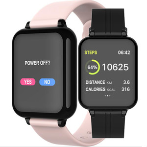 1PCS 2020 Hot Fashion B57 Color Screen Smart Watch Heart Rate Blood Pressure Oximeter Step Call Reminder Bluetooth Sports Bracelet
