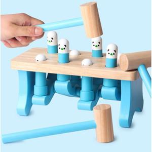 유아 교육 학습 나무 장난감 올드 베이비 베어 곰스터 부모 - 자녀 대화 형 게임 소음 제조기 장난감 Y19062803