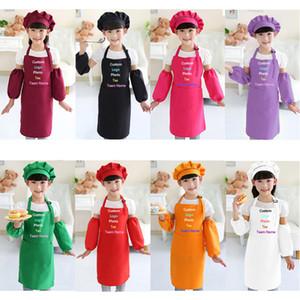 Kinder Kind Kinderschürze Ärmel Hut Set mit Tasche Kindergarten Küchen-Backen-Painting Kochkunsthandwerk Kunst Latzschürze