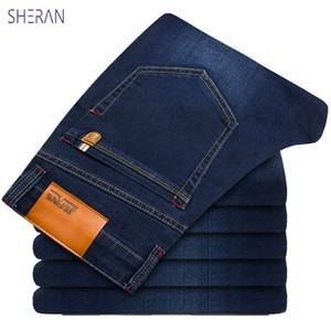 SHERAN 2019 Nuovo cotone pantaloni jeans classici degli uomini di qualità del denim di alta mens morbidi pantaloni di modo denim pantaloni da uomo maschio
