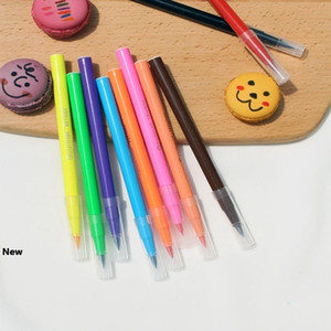 10 cores comestível Pigment Pen 5ml DIY Food Coloring Pens Biscuit Fondant bolo escrita da pintura da escova de decoração do bolo Ferramentas RRA1854