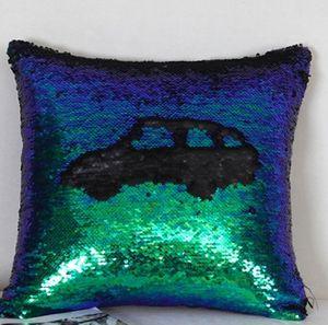 Paillettes federe glitter sirena federe reversibile Paillettes federa magico che Cambiano Colore Home Decor 24 stili 10pcs XH1240