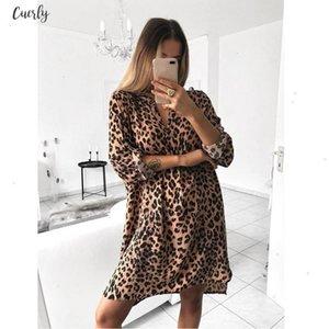 Sexy Women Leopard Print Dress Long Sleeve V Neck Club Dresses Lady Bodycon Party Club Hot Evening Vestdos Designer Clothes