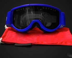 En gros-sup coupe-vent miroir cylindrique Masque de ski à double couche anti-buée extérieure coupe-vent Lunettes de ski Lunettes escalade de la bande élastique