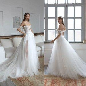 Dária Karlozi Vestidos De Noiva De Ombros Rendas Contas De Contas Vestidos De Noiva Vestidos Feitos À Medida