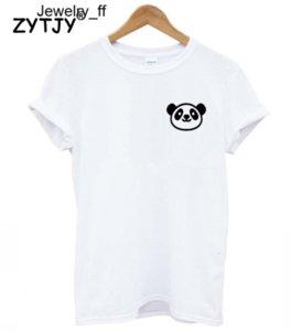 Panda Карман печать Женщина тенниска хлопок вскользь Смешного T рубашка Lady Девочка Top Tee Hipster Tumblr корабль падение дама приспешники T Shirt Ins