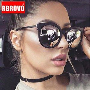 RBROVO 2019 Vintage Round Sunglasses Women Brand Shopping Glasses Large Frame Street Beat Gafas UV400