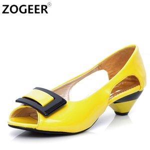 Zogeer Été Nouveau Doux Casual Femmes Sandales Couleur Bonbon Découpes Confortable Dames Tongs Chaussures De Mode Femme Blanc Rose Y19070303