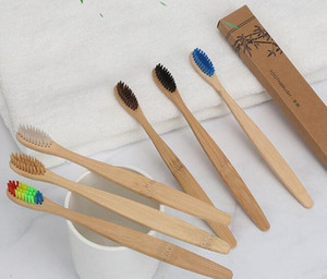 Bamboo Toothbrush Bamboo charcoal Toothbrush Soft Nylon Capitellum Bamboo Toothbrushes for Hotel Travel Tooth Brush free shipping