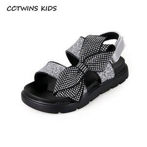 CCTWINS 2020 Chaussures enfants été Bébés filles Tout-petits enfants Sandales Mode strass Princesse Papillon plat Chaussures PS804