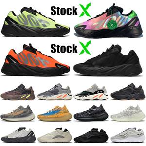 2020 Kanye West Yeezy 700 V2 Großhandel Top Qualität New Designer 700 Orange Schwarz Phosphor Knochen Damen Herren Kinder Laufschuhe Stock x Turnschuhe Turnschuhe