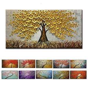 Wall Art Abstract Paintings Modern Oil Painting On Canvas Home Decoration Living Room Pictures Handpainted No Framed HF0010 SH190919