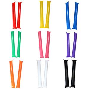60cm Aufblasbare zujubelnde Stock Geräuschhersteller / bunte Prost Bar / Brennstab / Partei liefert / aufblasbare cheer Sticks Spielzeug