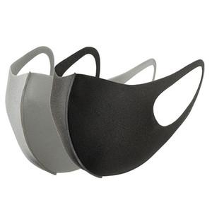 Freier DHL, schwarze Maske weicher Baumwolle Winter-Atemmaske Anti-Staub Earloop Mund Gesicht Abdeckung Unisex Außenreit Lycra Baumwolle Mask