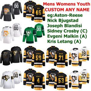 Pittsburgh Penguins 2020 All-Star Hockey Jerseys Patrick Marleau jersey Evan Rodrigues Jason Zucker Sidney Crosby Malkin personalizado costurado