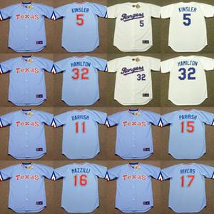 Texas 5 Ian Kinsler 11 YU DARVISH 15 Larry Parrish 16 LEE MAZZILLI 17 Mickey Rivers 32 JOSH HAMILTON jersey Baseball