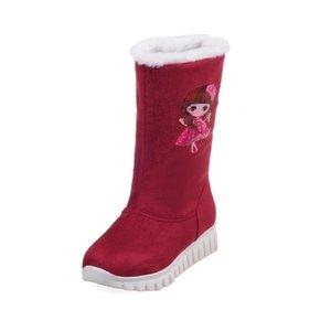2017 Botas de Inverno tamanho grande do 34-46Women Sapatos Gladiador Inverno Neve Botas Moda alta Longo Low Heel Marti Ladieskeep Quente X-568