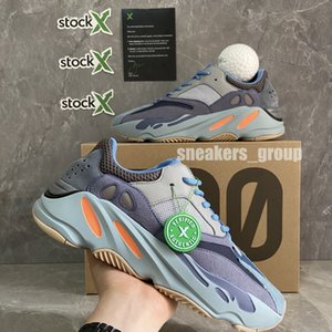 Kanye West 700 Wave Runner Chaussures de course Inertia sel Hommes Femmes 700s V2 Geode statique sport solide gris mauve Concepteurs Sneakers Taille 36-48