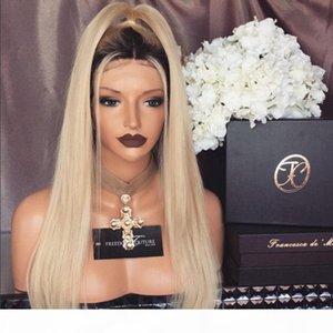 Мода знаменитости #1b 613 двухцветный монгольский Виргинские волосы парики человеческих волос парики светлые 100% натуральные волосы парики для женщин