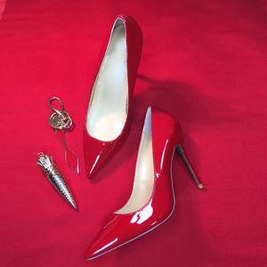 women red bottom pumps high heels shoes peep toe Stiletto dress shoes platform patent leather Party Sexy Wedding Dress Shoes cs10