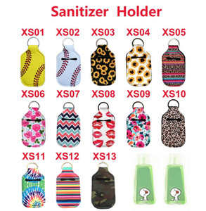 2020 Nova Neoprene Softball Impressão Chaveiros Hand Sanitizer Bottle 30ML portátil Mini Álcool Garrafas titulares Chaveiros Pingentes-chaves