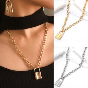 Collana Designer argento Collana di blocco oro Forever Love blocco ciondolo collane del choker delle donne gioielli di lusso collane nave di goccia