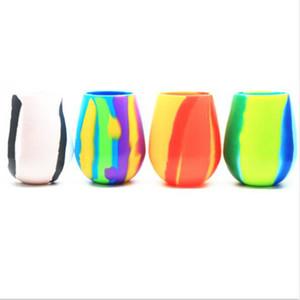 아마존의 뜨거운 판매 Silipint 깨지지 않는 실리콘 와인 안경 BPA없는 수영장 사이드 안전 빨간색과 흰색 와인 Drinkware