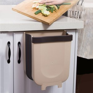 Trash Can Kitchen Wall Mounted Garbage Bin Foldable Waste Bins 8L Large Capacity Waste Bin Car Trash Can