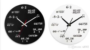 Matematik Formülü Duvar Saati Salon Retro süslemeleri Saatler Ev Sağlam Ve Dayanıklı Siyah Beyaz Yaratıcı Ahşap 25nsC1 Malzemeleri