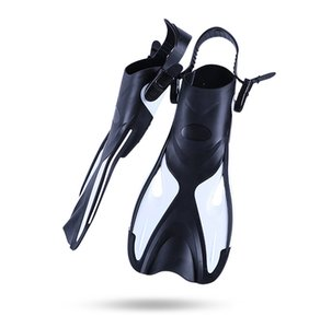 DIVING Swim Fins Adult Short Scuba Snorkeling Shoes Swimming Fins Trek Foot Flipper Diving Flippers Diving Fins with Heel