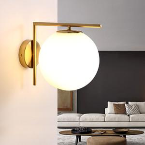 220v 110v Modern Nordic vidro Led ouro cabeceira Wall Light Lamp Sconce para o banheiro interior Início Mezanino Sala Stair