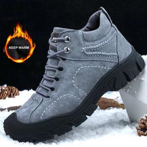2019 zapatos de seguridad respirables de los nuevos hombres botas al aire libre de los zapatos de la construcción, más cálido terciopelo de trabajo impermeable de los hombres