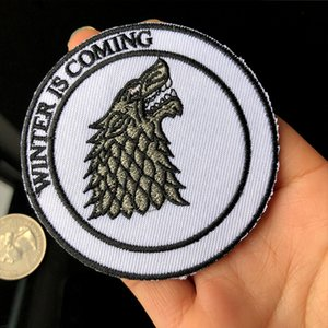 Hot Sale Game of Thrones Embroidery Patches Sewing Iron On Applique Badge Clothes Patch For Jackets Jeans Garment Bag T-shirt Decoration