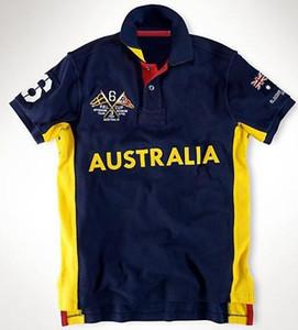 Hot Sale Polo Hommes grand cheval de broderie Fashion Jersey Coton T-Shirts Hauts SUI Australie Espagne Norvège Russie GER Mexique ITALIA Emirats Arabes Unis Etats-Unis